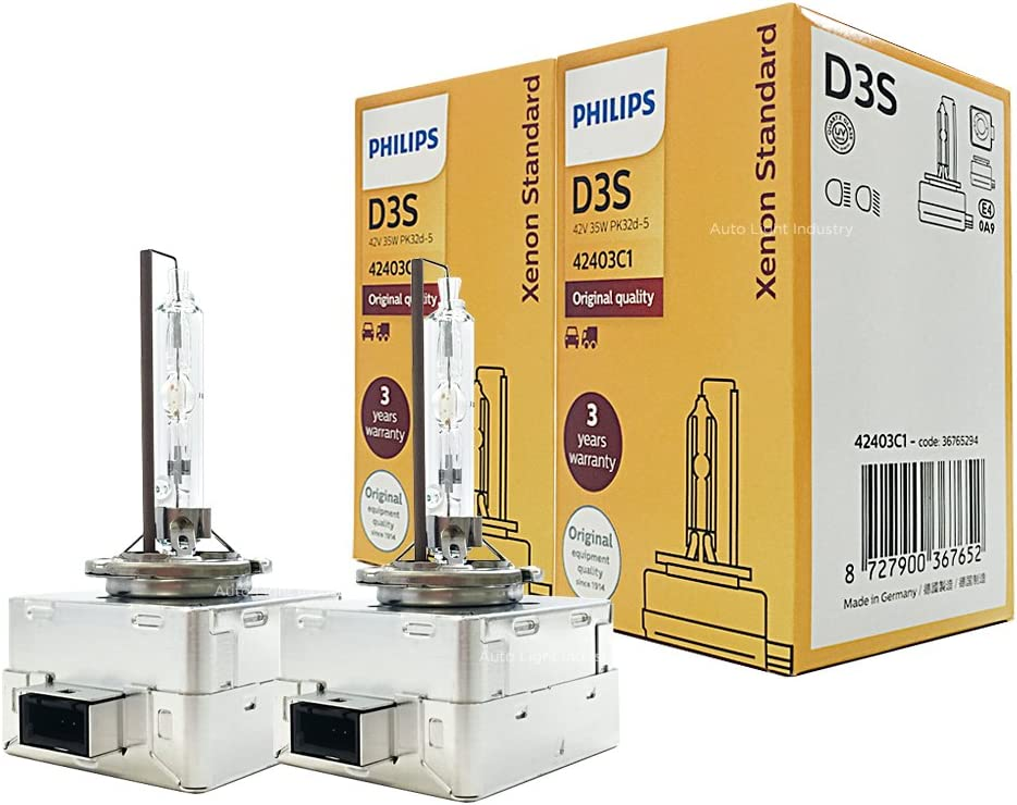 PHILIPS D3S 4300K XenStart OEM Replacement HID XENON Bulbs 42403C1 35W DOT Germany - Pack of 2 by ALI