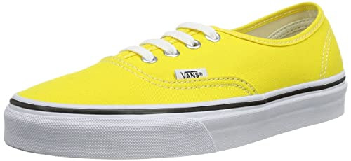 fb5b2ce60fba Image Unavailable. Image not available for. Colour  Vans Unisex Authentic  Cyber Yellow True White Sneakers Shoes ...