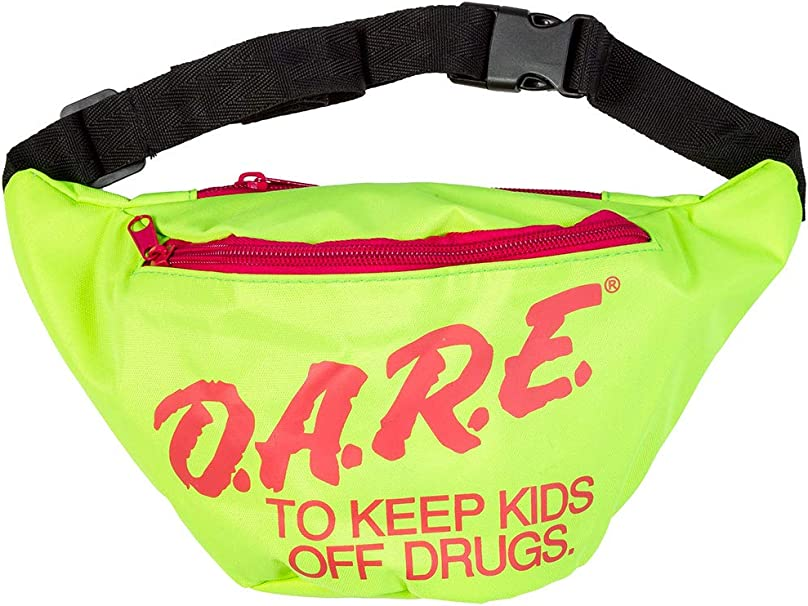 Vintage Handbags, Purses, Bags *New* Neon Retro DARE Fanny Pack Waist Bags with Adjustable Waist Straps (Neon Green)  AT vintagedancer.com