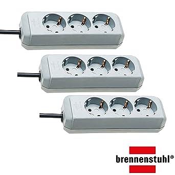 Steckdosenleiste 3-fach Steckerleiste mit Schalter und m Brennenstuhl Eco-Line