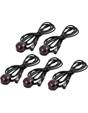 uxcell 5Pcs CHT-D18 3.5mm Bent Jack IR Infrared Remote Control Receiver Cable for DVR, STB, Satellite Receivers