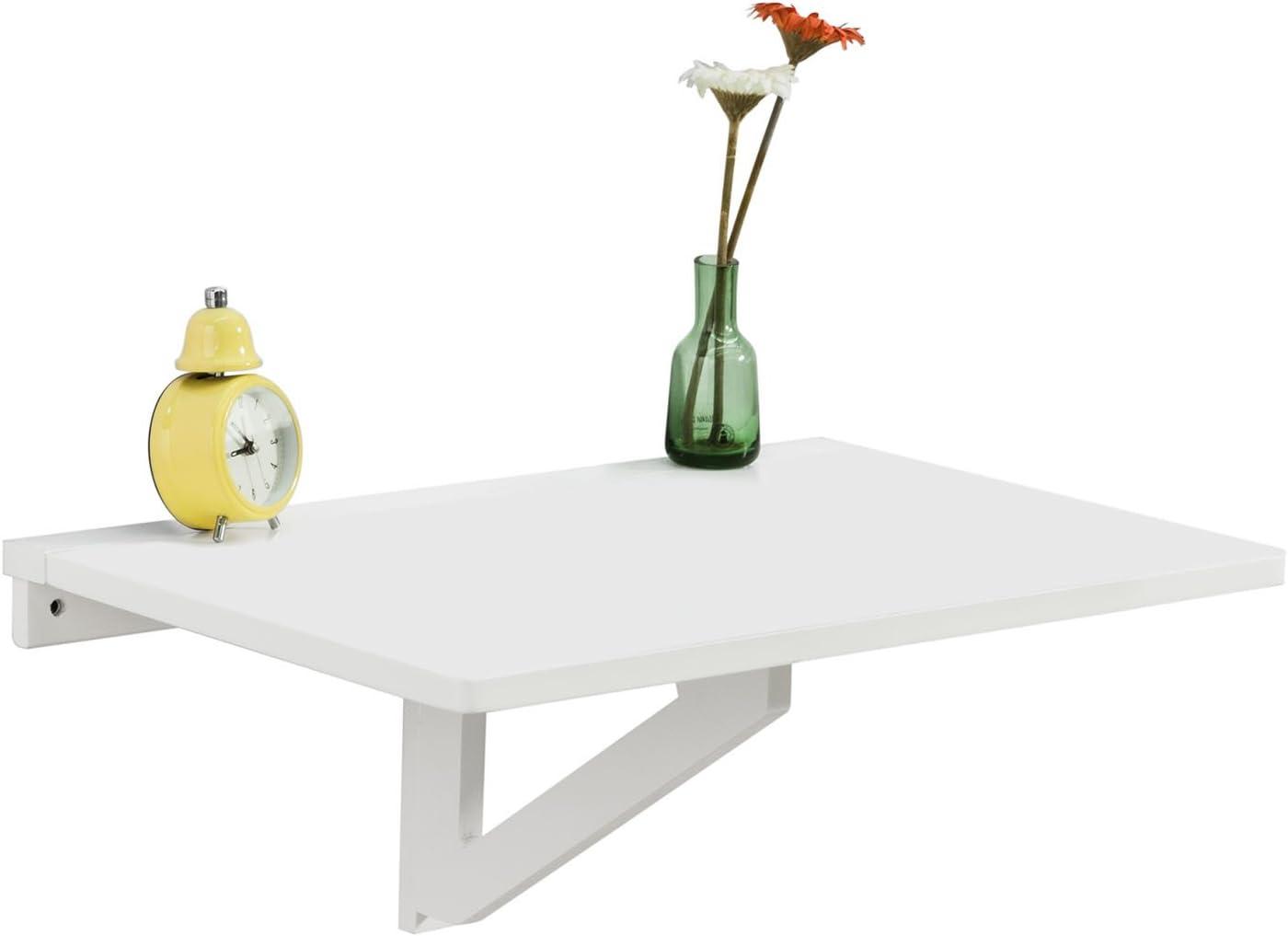 SoBuy FWT03-W, Mesa Plegable de Pared,Mueble Infantil,Mesa para portátil, Mesa para Comer, Escritorio,ES