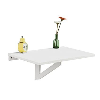Amazon Table De Cuisine.Sobuy Fwt03 W Table Murale Rabattable En Bois Table De Cuisine Table Enfant L60 P40cm Blanc