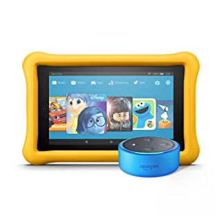 Echo Dot Kids Edition + Fire 7 Kids Edition (Blue/Yellow)