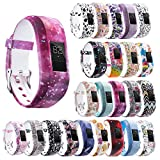 StrapsCo Patterned Silicone Rubber Replacement Watch Band Strap for Garmin Vivofit 3