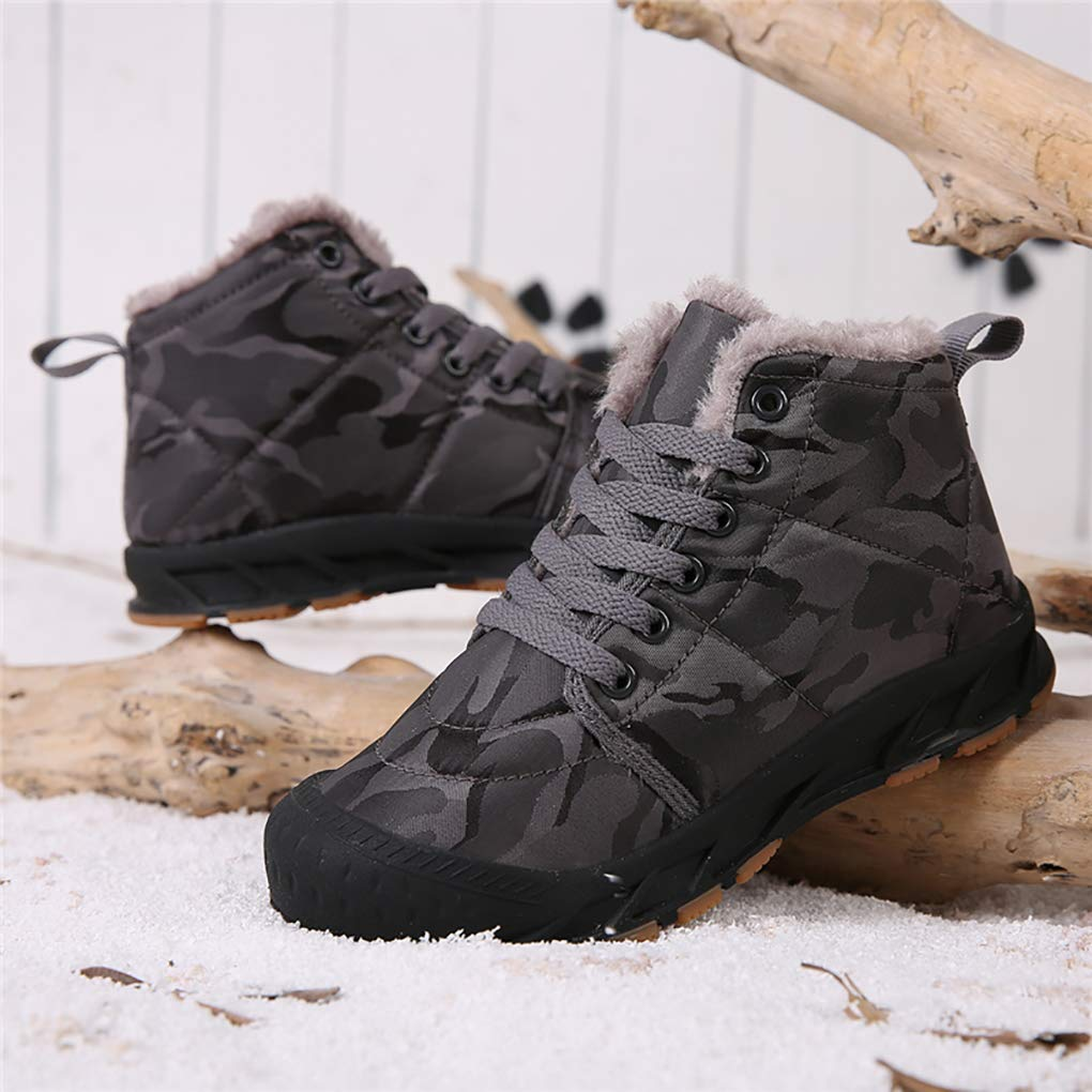 ditont Kids Girls Boys Waterproof Winter Snow Boots Resistant Warm Antislip Outdoor Shoes