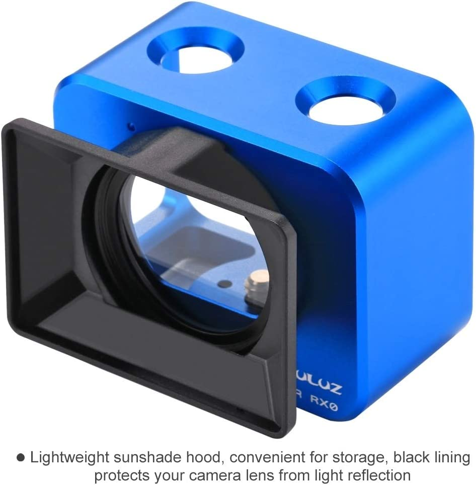 CHENYANTUB Camera Accessories for Sony RX0 Aluminum Alloy Protective Cage Color : Blue 37mm UV Filter Lens Lens Sunshade with Screws and Screwdrivers Black