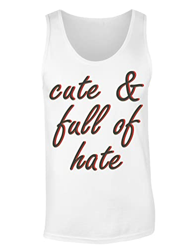 Cute And Full Of Hate Camiseta sin mangas para mujer Shirt