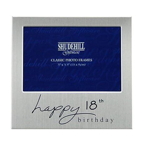 Amazon.com: Shudehill Giftware Happy Marco de fotos de 18º ...