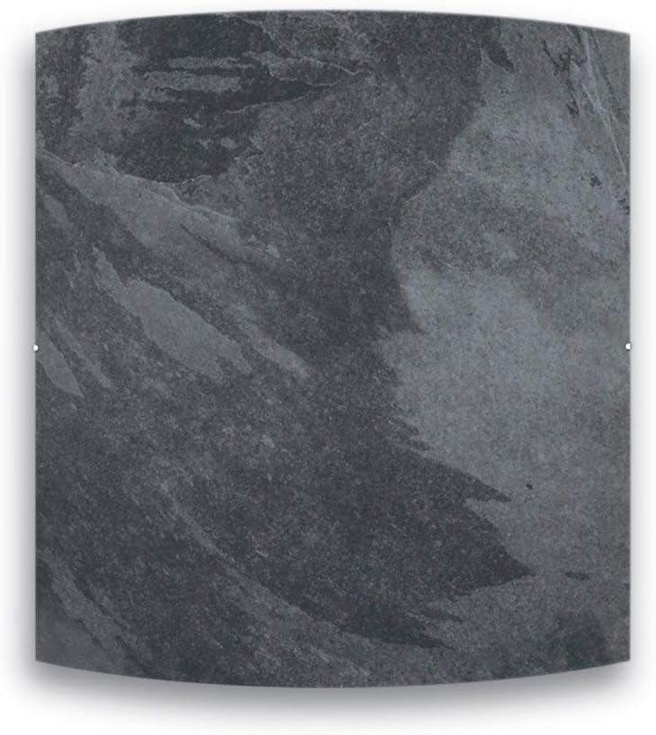Radiador de inercia de piedra natural – gama Dual Kherr Curve – 1000 W – negro