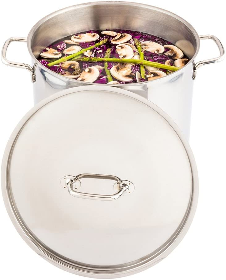 Stainless Steel Sauce Pan Lid - Fits Restaurantware 21-QT Stock Pot - Perfect for Commercial or Home Use - Heavy Duty - 1-CT