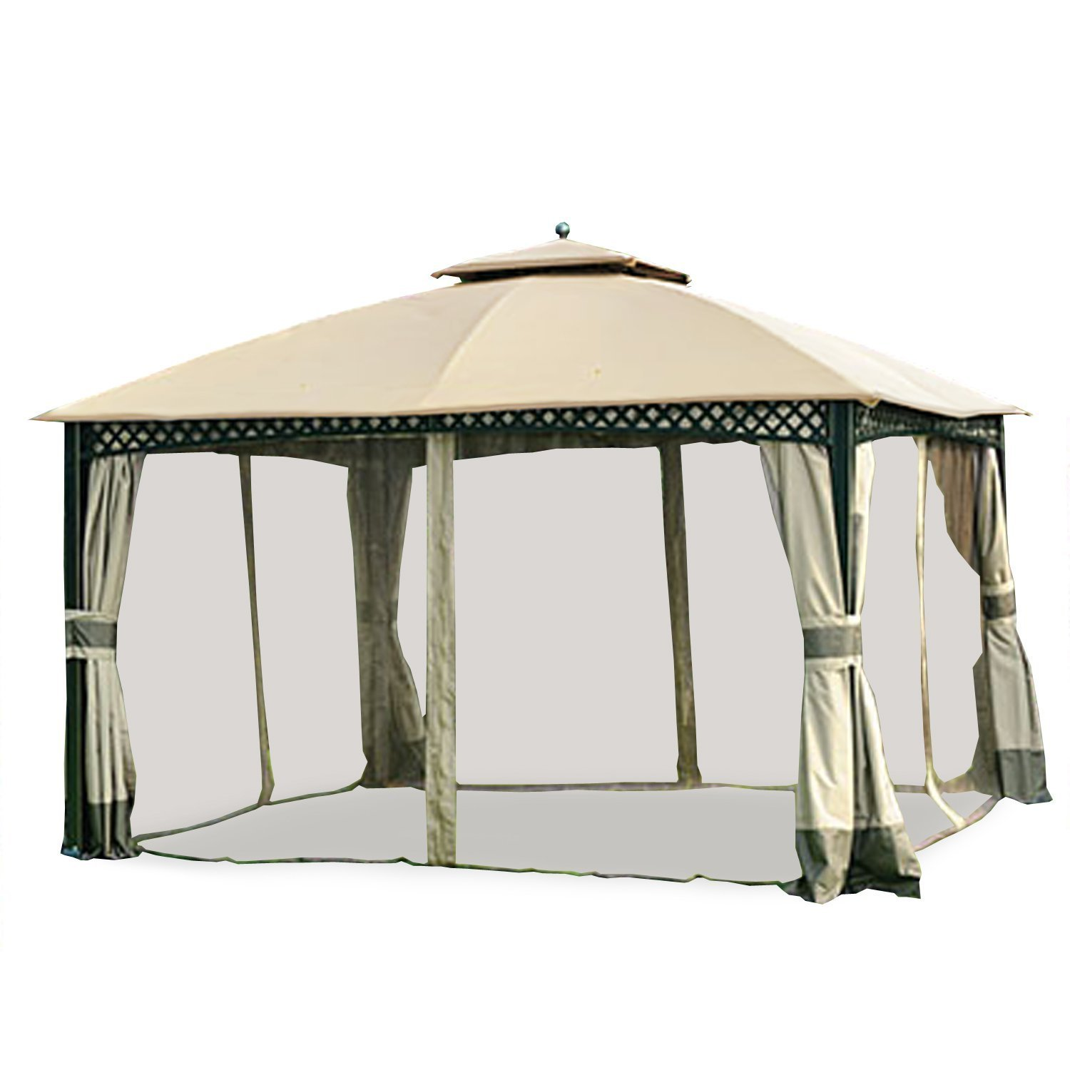 Garden Winds Replacement Canopy and Netting Set for Windsor Dome Gazebo – Riplock 350