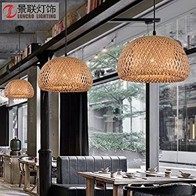 Simple and elegant pastoral bamboo chandeliers restaurant lamps lamps Tengyi bamboo art lighting bamboo chandeliers living room