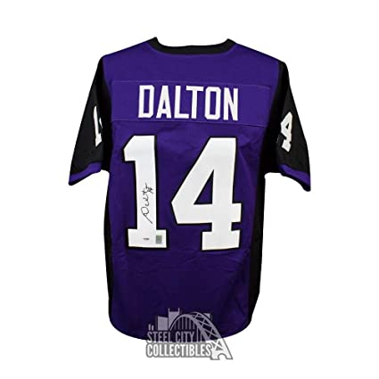 8aa98a109ea Andy Dalton Signed Jersey - Custom Purple Football - PSA DNA ...