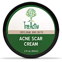 TreeActiv Acne Scar Cream Fade Away Pimple Marks, Blemishes & Dark Spots Reduces the Appearance of Old & New Scars Rosehip Oil, Quaternized Honey, Jojoba Oil, Aloe Vera, Vitamin E (2 fl oz)