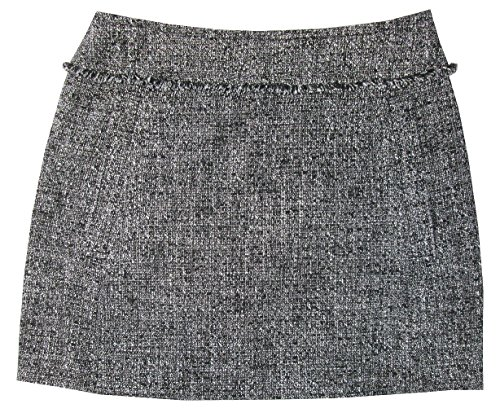 MICHAEL Michael Kors Women's Frayed Tweed Welt Pocket Pencil Skirt (Black, ()