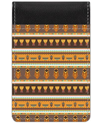 African Stripes Vase (African Masks Genuine Leather Small Memo Pad)