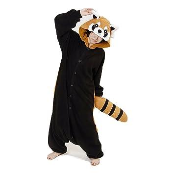 Image of: Amazon Red Panda Kigurumi animal Onesie Pyjamas Amazon Uk Red Panda Kigurumi animal Onesie Pyjamas Amazoncouk Toys Games