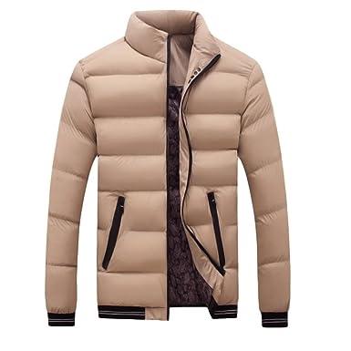 Men Winter Coat, FEITONG Men Winter Warm Slim Fit Thick Bubble ...