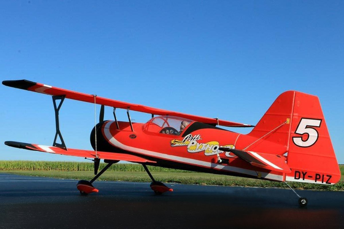 DYNAM RC Airplane Pitts Model 12 Red 1070mm Wingspan BNP