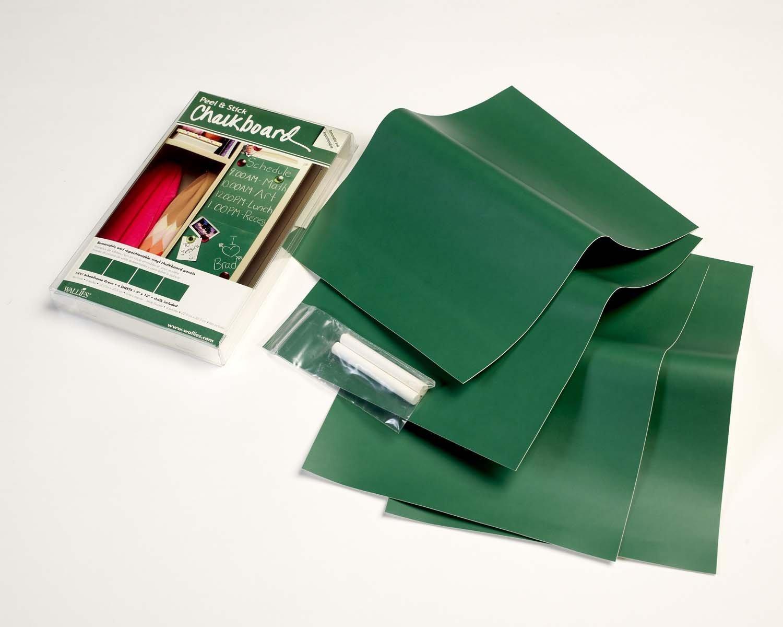 Wallies   confezione di 4 fogli adesivi, effetto lavagna di ...