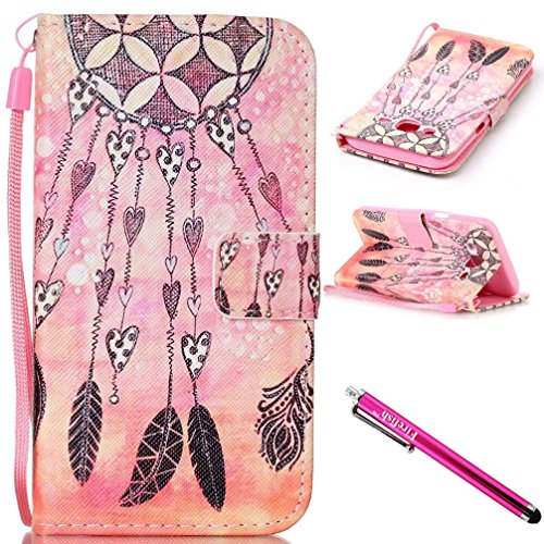 [Galaxy J5 2015 Case, Firefish Kickstand Card Slots Cash Holder Dual Layer Impact Resistant Case Cover with Wrist Strap Magnetic Snap Closure for Samsung Galaxy J5 (2015] (Hearts Costumes Shoe)