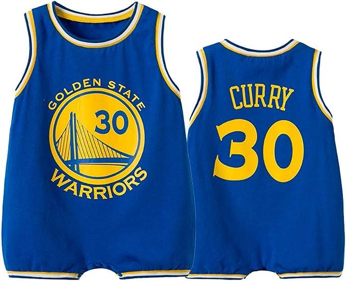 MNCD - Body de baloncesto sin mangas para bebé, 30 # Curry camisetas de baloncesto para niños y niñas: Amazon.es: Ropa y accesorios