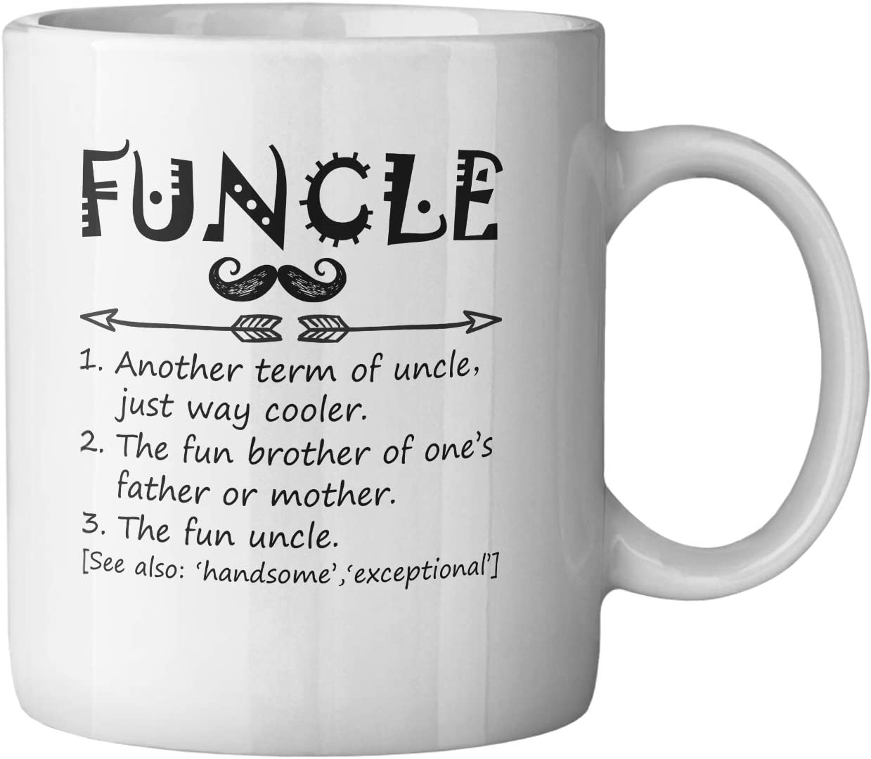 Uncle Mug Funcle Definition Gift Cup Present Birthday Christmas Fathers Day