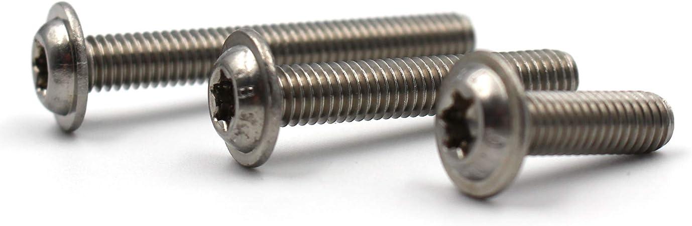 Lot de 10 vis /à t/ête plate avec bride selon ISO 7380-2 TX en acier inoxydable A2