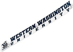 Western Washington University WWU Vikings NCAA Name Logo Vinyl Decal Laptop Water Bottle Car Scrapbook (8 Inch Sticker)