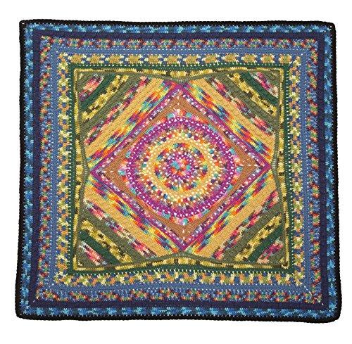 Lion Brand Yarn 600 567 Mandala Afghan Crochet Kit Handmade Makers