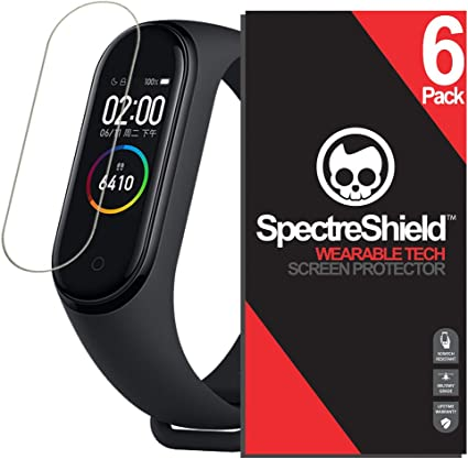 PaceBid 2 Pack Protector de Pantalla Compatible con Xiaomi Mi Band 4,Cobertura Completa Cristal Templado Burbujas Libre de Montaje Dureza 9H Anti Ara/ñazos Protector de Pantalla para Xiaomi Mi Band 4