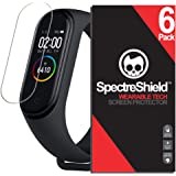 Spectre Shield (6 Pack) Screen Protector for Xiaomi Mi Band 4 Accessory Xiaomi Mi Band 4 Screen Protector Case Friendly Full Coverage Clear Film