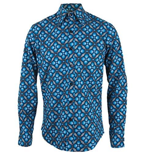 Chenask Dots Grid Black-Petrol Shirt L for $<!--$59.95-->