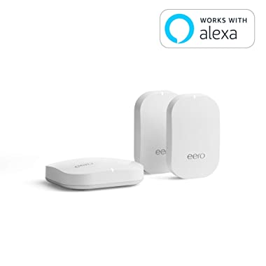 eero Home WiFi System (1 eero + 2 eero Beacon) – Advanced Tri-Band Mesh WiFi System to Replace Traditional Routers and WiFi Ranger Extenders – Coverage: 2 to 4 Bedroom Home