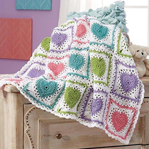 Herrschners® Loving Hearts Baby Blanket Crochet Afghan Kit by Herrschners®