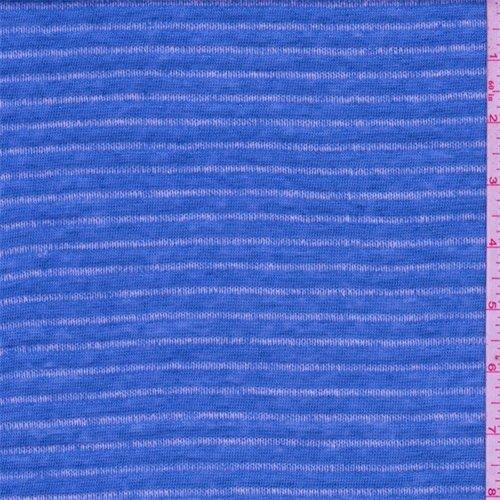 White Cadet Cadet Drop (Cadet Blue/White Stripe Slubbed Sweater Knit, Fabric By the Yard)