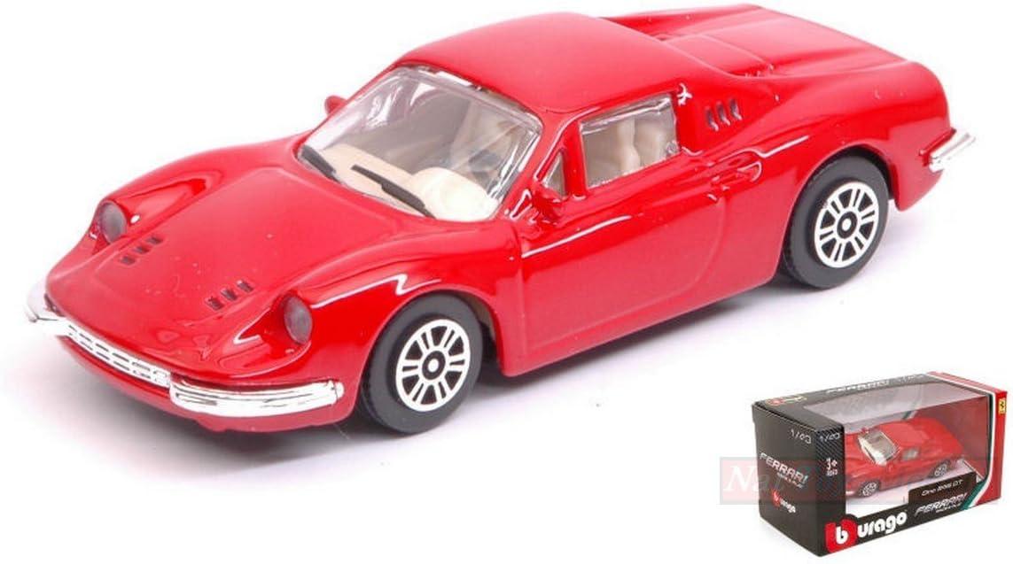 New BURAGO BU31105R FERRARI DINO 246 GT RED 1:43 MODELLINO DIE CAST MODEL
