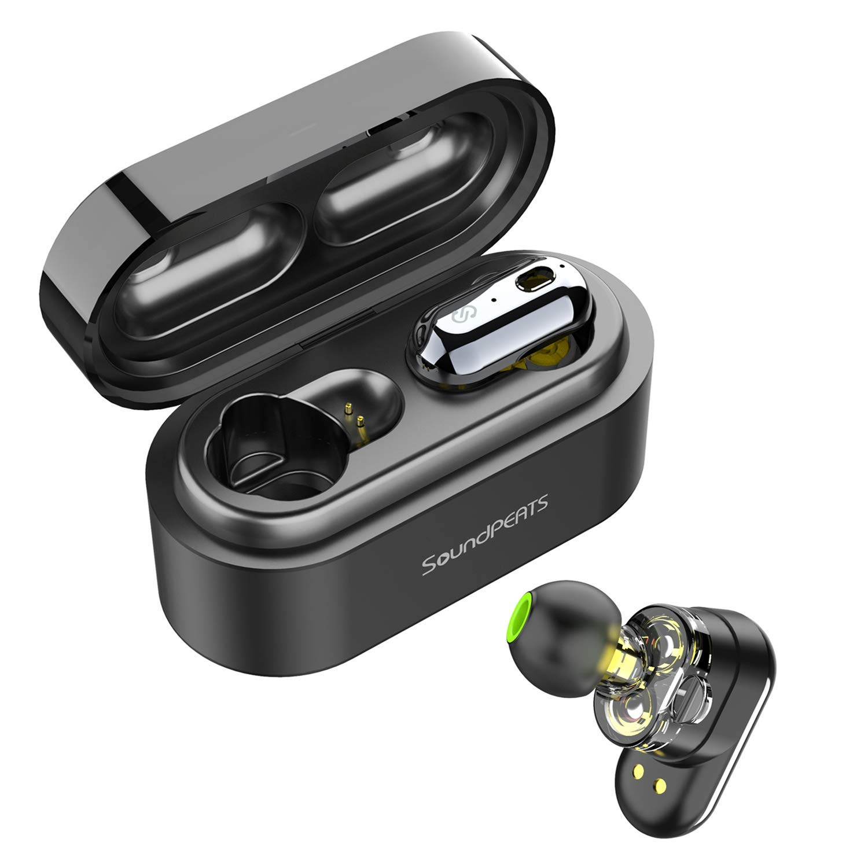 Auriculares Inalámbricos Bluetooth 5.0 TWS SoundPEATS Truengine Mini True Wireless Cascos IPX6 con Micrófono Dual Drivers Audífonos In-Ear Manos ...