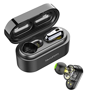3e9af9ce967 SoundPEATS Wireless Earbuds, Bluetooth 5.0 Wireless Headphones Dual Dynamic  Drivers TWS Bluetooth Earphones Built in