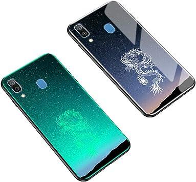 Yoota Funda Samsung Galaxy A20, Tapa Trasera de Cristal Templado ...