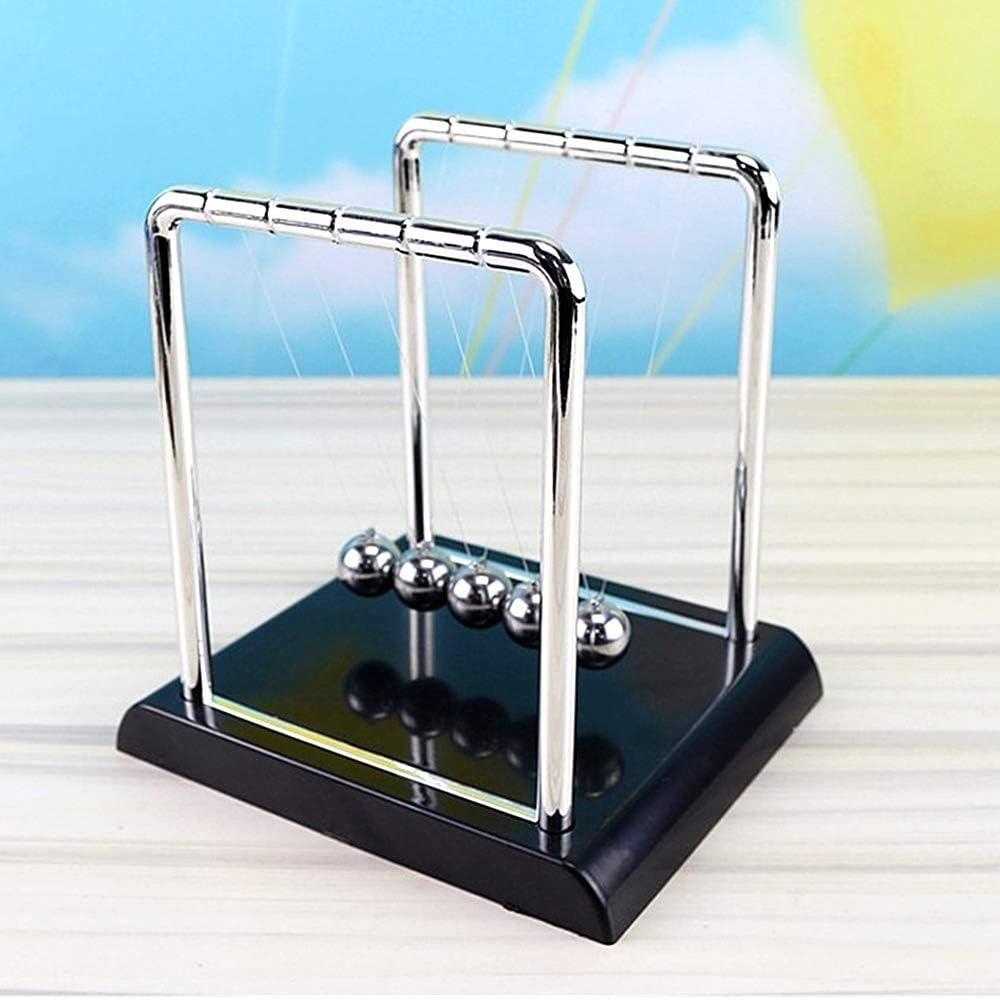 XIYUAN Newton's Cradle -Newton's Cradle Balance Ball- Demonstrate Newton's Laws with Balance Balls - Pendulum Physics Science Pendulum Ball-Classic Office Desk Toys Decoration Black T-Shape (M)