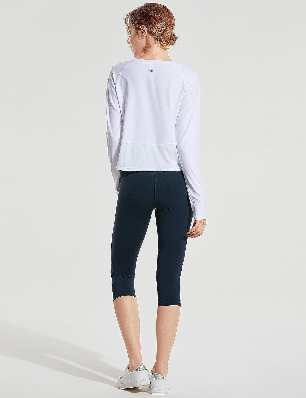 CRZ YOGA Donna UV 50 Magliette Sportivo Maniche Lunghe Casuale T Shirt