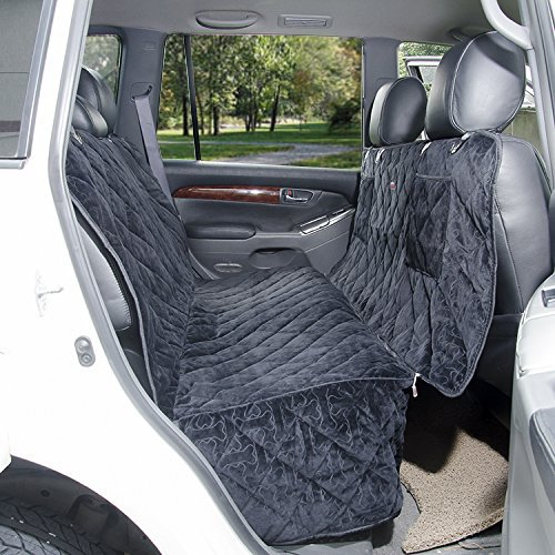 furry buddy waterproof quilted microfiber car seat cover for dogs black ebay. Black Bedroom Furniture Sets. Home Design Ideas