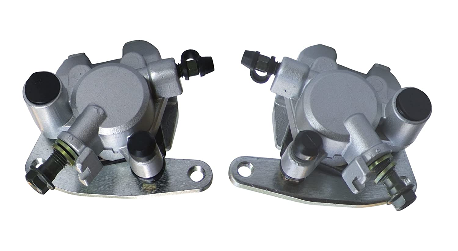shamofeng Front Brake Caliper Left and Right Set with Pads For Yamaha GRIZZLY 660 2002 03 04 05 06 07 08 YFM660 YFM600F 1998 1999 2000 2001 2002 Replaces:4WV-2580U-00-00 4WV-2580U-10-00