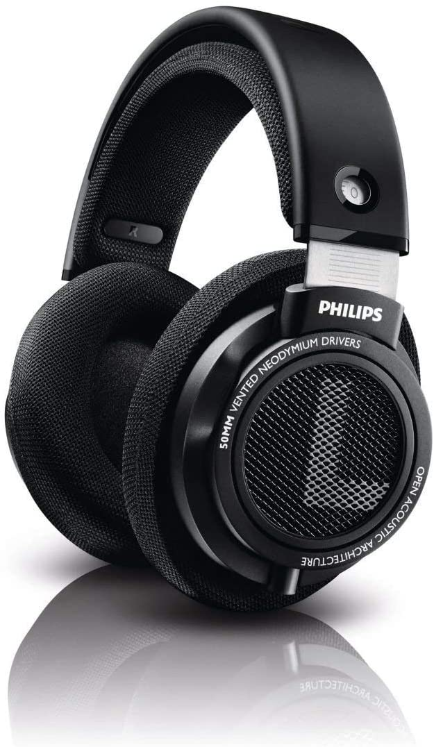 Philips SHP9500S 50mm Drivers HiFi Precision Stereo Over-Ear Headphones Open Back Black