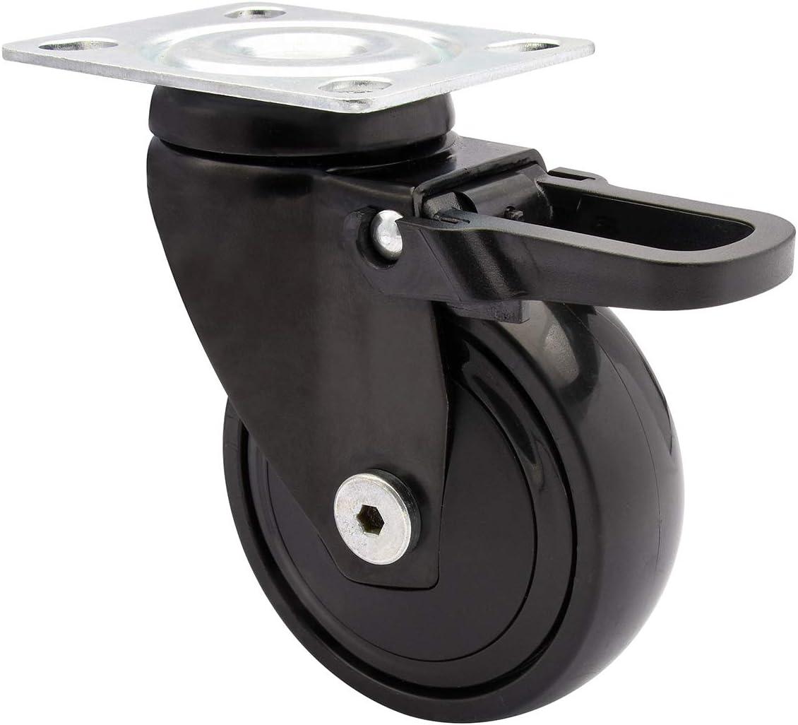 WAGNER Design 3C Tragkraft 75 kg mehrfarbig Kugellager Softlauffl/äche Lenkrolle//Apparaterolle//M/öbelrolle Durchmesser 75 mm 01237501 Total-Feststeller