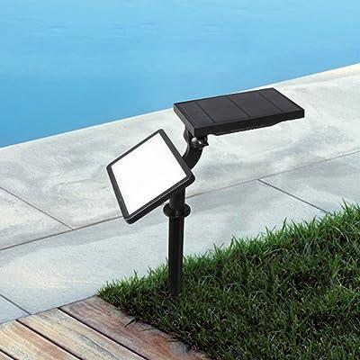 Énergie solaire à l'ouvert Insérer la lampe de terre, lampe, à mur, étanche Paysage Spot jardin terrasse à l'ouvert lampes de pelouse, lumières du jardin, aucun câblage,
