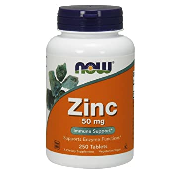Amazon Com Now Zinc Gluconate 50mg 250 Tablets Health Personal Care