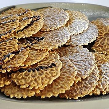 Amazon.com: Reko Pizzelle (2 PACK SUPER SAVER) Italian Waffle Cookie Vanilla - 20oz Each